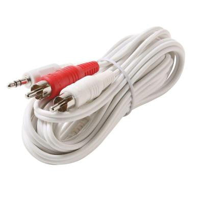 12 ft. Y3.5-Plug - 2-RCA Male Cable