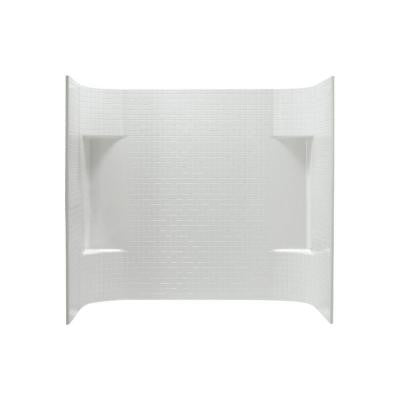Accord 31-1/4 in. x 60 in. x 56-1/4 in. 3-piece Direct-to-Stud Wall Set in White