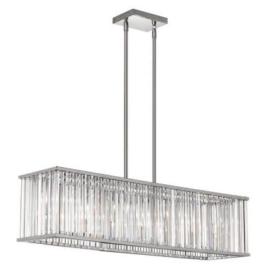 Aruba 7-Light Polished Chrome Horizontal Crystal Chandelier