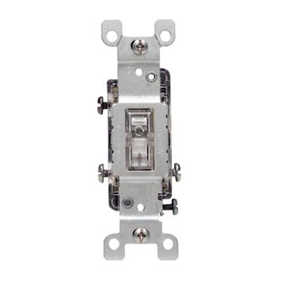 15 Amp Illuminated Toggle Switch - Clear