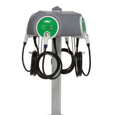 Quad Pedestal 30-Amp Level 2 EV Charging Stations with 25 ft. Cable