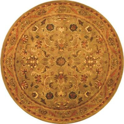 Antiquity Olive/Gold 6 ft. Round Area Rug