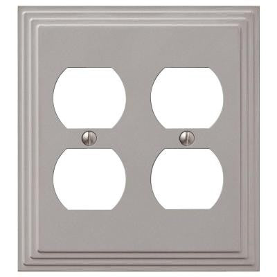Steps 2 Duplex Wall Plate - Nickel