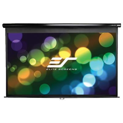 60 in. H x 80 in. W Manual Projection Screen with Black Case