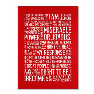 47 in. x 35 in. Decisive Elements Canvas Art