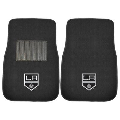 NHL Los Angeles Kings 2-Piece 17 in. x 25.5 in. Carpet Embroidered Car Mat