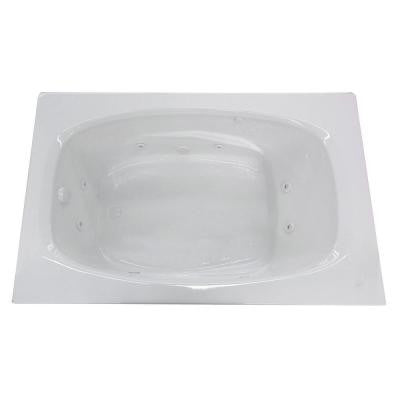 Tiger's Eye 6 ft. Whirlpool Tub in White