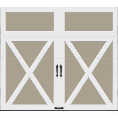 Coachman Collection 8 ft. x 7 ft. 18.4 R-Value Intellicore Insulated Solid Sandtone Garage Door