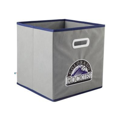MLB STOREITS Colorado Rockies 10-1/2 in. x 10-1/2 in. x 11 in. Grey Fabric Storage Drawer