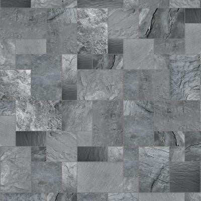 10 ft. Wide Cambrian Slate Vinyl Universal Flooring Your Choice Length