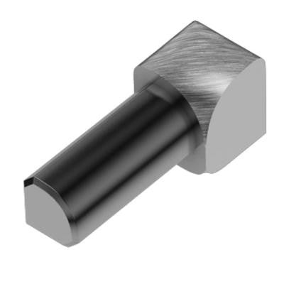 Rondec Brushed Chrome Anodized Aluminum 3/8 in. x 1 in. Metal 90 Degree Inside Corner