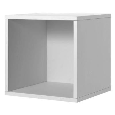 15 in. White Open Cube