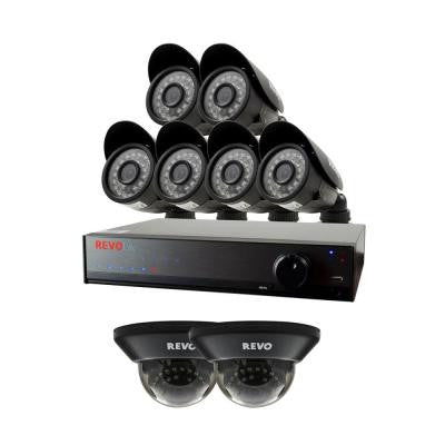 Lite 8-Channel 1TB 960H DVR Surveillance System with (8) 700 TVL Cameras