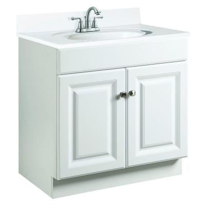 Wyndham 24 in. W x 18 in. D Unassembled Vanity Cabinet Only in White Semi-Gloss