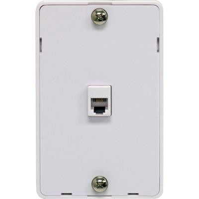 1 Wall Jack Phone Mount Wall Plate - White