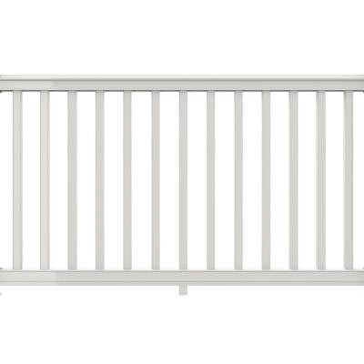 6 ft. x 42 in. White Vinyl Premier Rail Kit with Square Balusters
