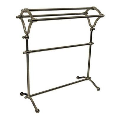 Pedestal Y-Type Towel Rack in Satin Nickel