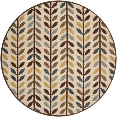 Cutral Brown 6 ft. 7 in. Round Area Rug