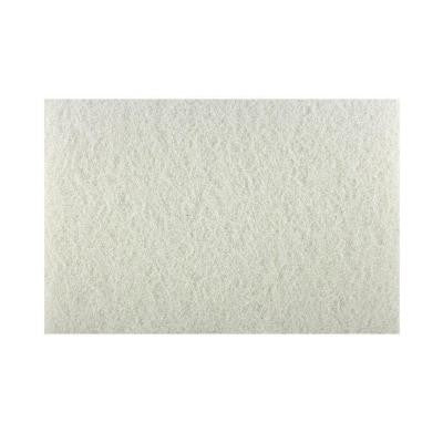 12 in. x 18 in. Non-Woven White Buffer Pad (5-Pack)