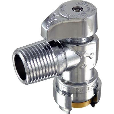 1/2 in. Push-to-Connect x 1/2 in. MIP Brass Quarter-Turn Angle Stop Valve