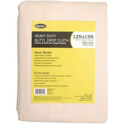 11 ft. 6 in. x 14 ft. 6 in. Heavy Duty Butyl Drop Cloth