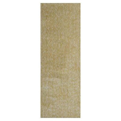 Cozy Shag Yellow Heather 2 ft. 3 in. x 7 ft. 6 in. Rug Runner