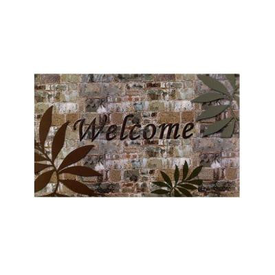 18 in. x 30 in. Welcome Palms Outdoor Rubber Entrance Mat