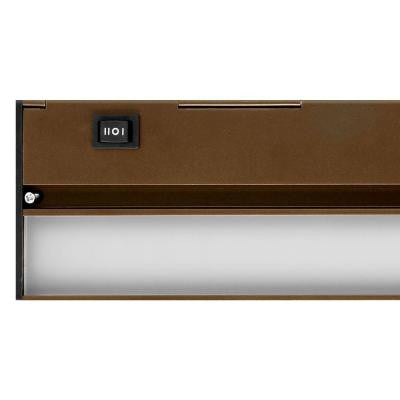 Nicor Slim 21 in. Oil Rubbed Bronze Dimmable LED Under Cabinet Light Fixture