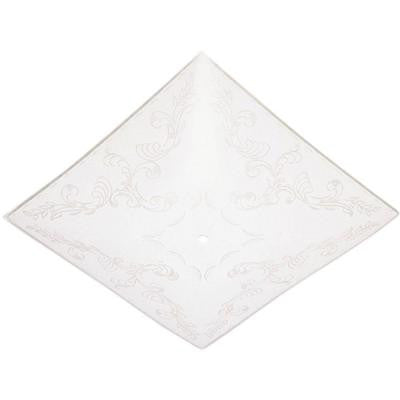 1-3/4 in. Square Clear Floral Design on White Diffuser with 14 in. Width