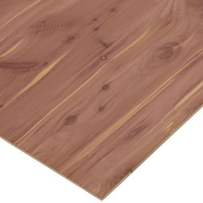 1/4 in. x 2 ft. x 4 ft. PureBond Aromatic Cedar Plywood Project Panel