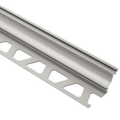 Dilex-AHK Satin Nickel Anodized Aluminum 9/16 in. x 8 ft. 2-1/2 in. Metal Cove-Shaped Tile Edging Trim