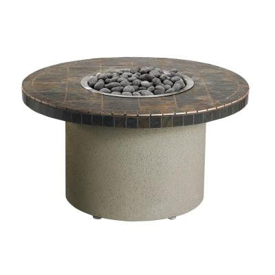 44 in. Round Ice N' Fire Pit in Falcon Gray