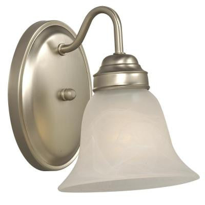 Negron 1-Light Pewter Incandescent Sconce