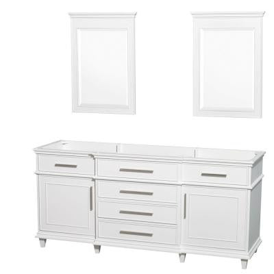 Berkeley 72 in. Vanity Cabinet with Mirror in White