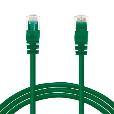 1 ft. Cat6e Ethernet LAN Network Patch Cable - Green (10-Pack)