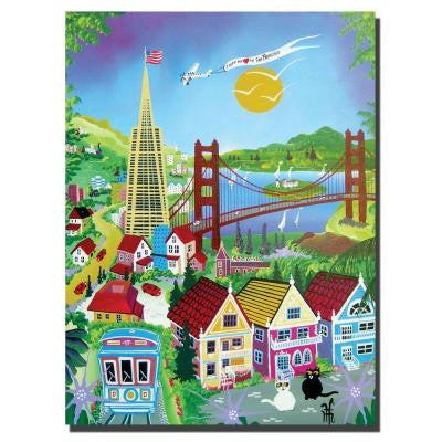 18 in. x 24 in. San Francisco Canvas Art