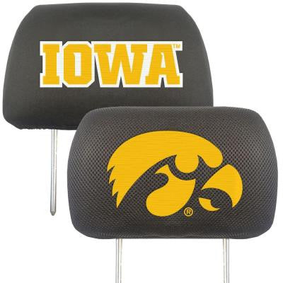 NCAA -University of Iowa Head Rest Cover (2-Pack)