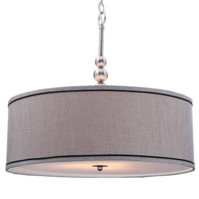 Margot 3-Light Brushed Steel Pendant