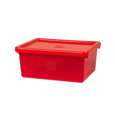 Storage Box Medium with Sorting Tray and Lid 14.74 in. D x 11.66 in. W x 6.32 in. H Polypropylene in Bright Red