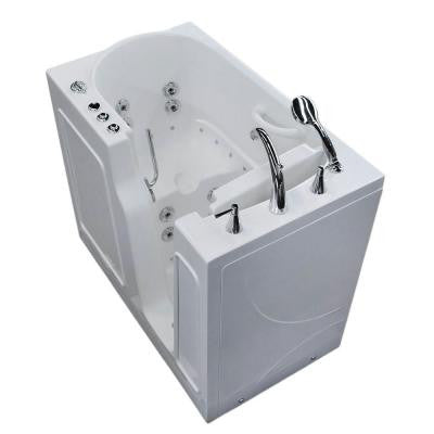 3.9 ft. Right Drain Walk-In Whirlpool and Air Bath Tub in White