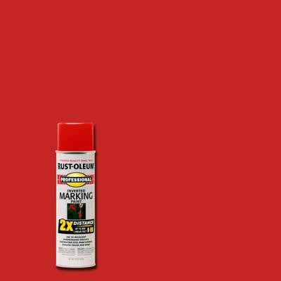 15 oz. 2X Safety Red Marking Spray Paint (6-Pack)