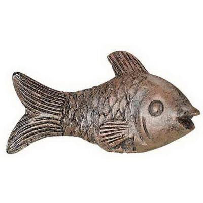 1.38 in. Brown Fish Resin Lamp Finial