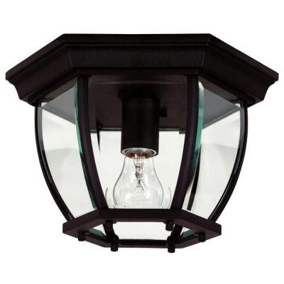 Dural 1-Light High Black Flushmount