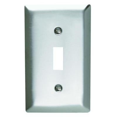 1-Gang 1 Toggle Wall Plate - Stainless Steel