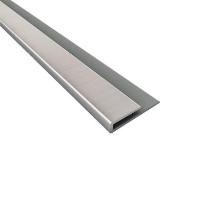 18 in. Brushed Nickel PVC Large Profile J-trim
