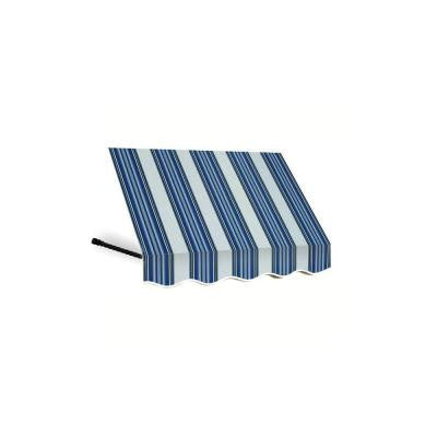 6 ft. Santa Fe Window Awning (31 in. H x 24 in. D) in Navy/Gray/White Stripe