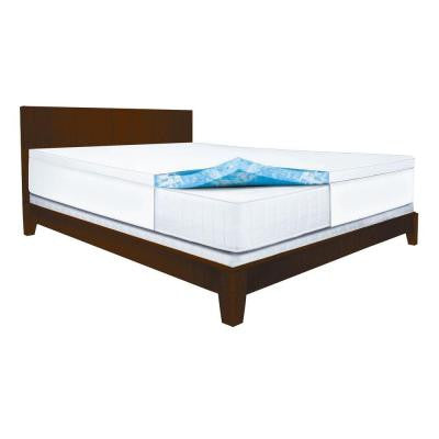 King Size 2.5 in. Gel Swirl Memory Foam