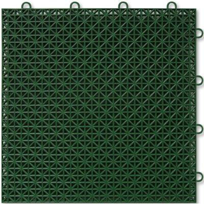 Green Polypropylene 1ft. x 1ft. Deck Tile (40 - Case)