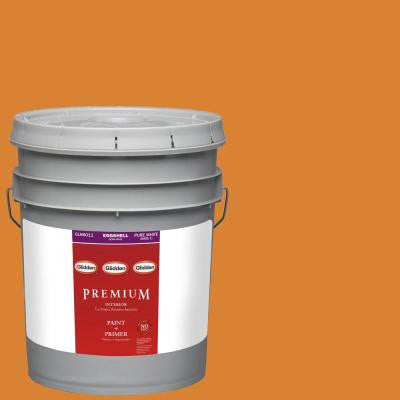 5-gal. #HDGO40D Sunlit Topaz Eggshell Latex Interior Paint with Primer