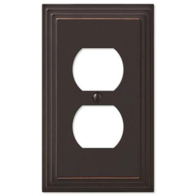 Steps 1 Duplex Outlet Plate - Aged Bronze